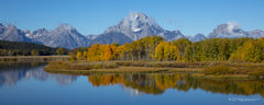 L0049, Wyoming, Signature-Series, Reflection Of Oxbow Bend