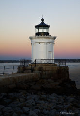 lighthouse, color, sunset