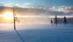 Sunrise On A Below Zero Morning