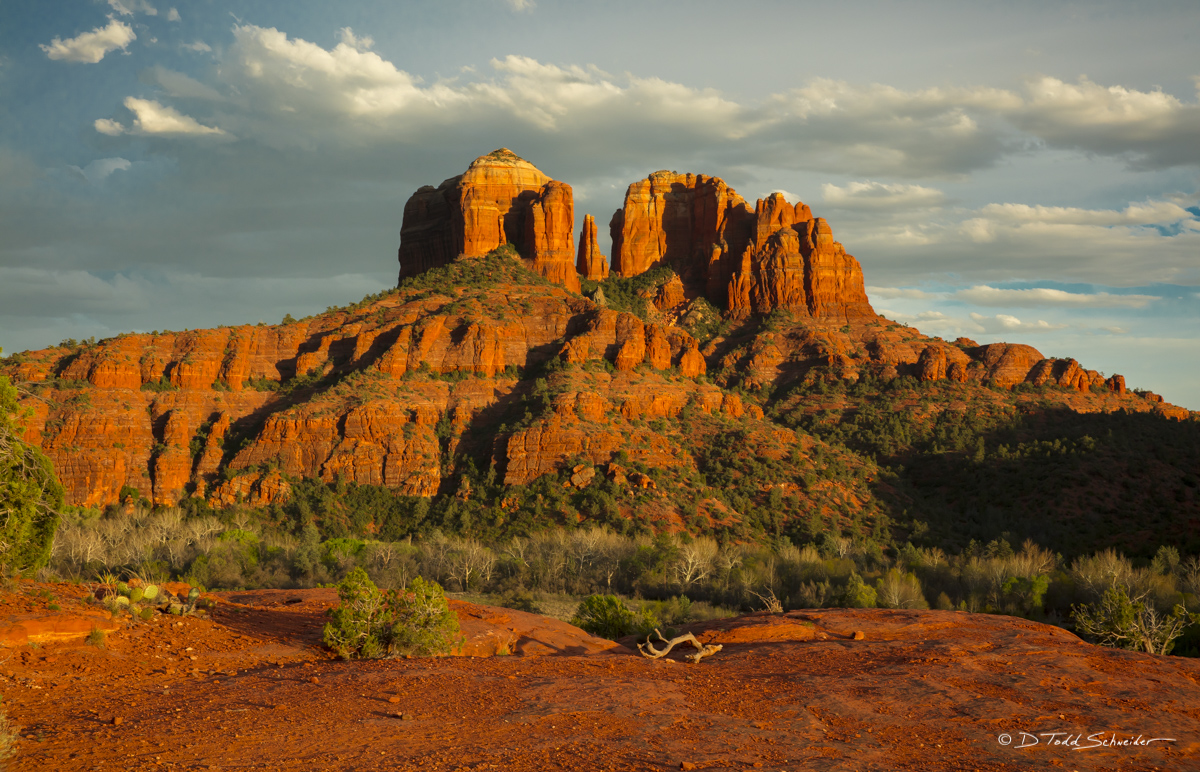 L0114, mountain, red rock, sunset, photo